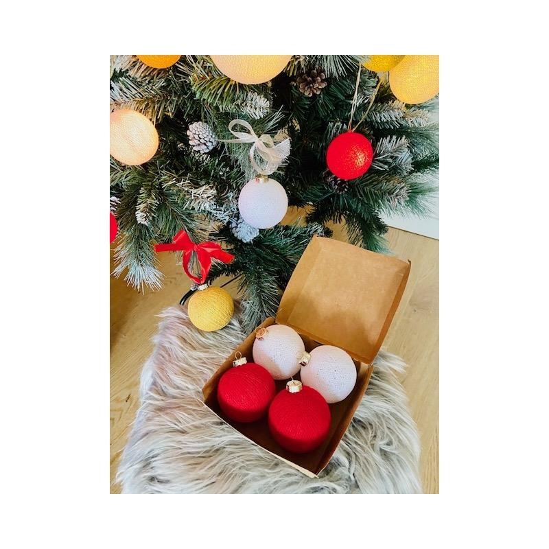 Jõulu haldjapallid 4-ne komplekt (2 tooni omal valikul)