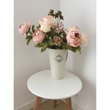 Vintage stiilis plekist lillevaas/ämber