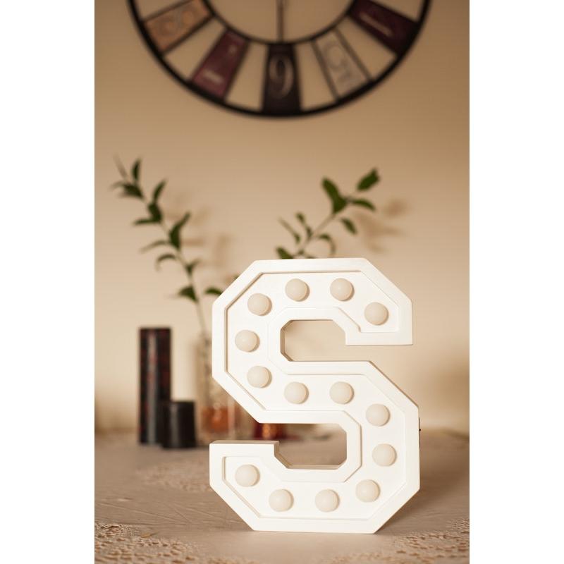 """Led täht """"S"""", 30cm"""