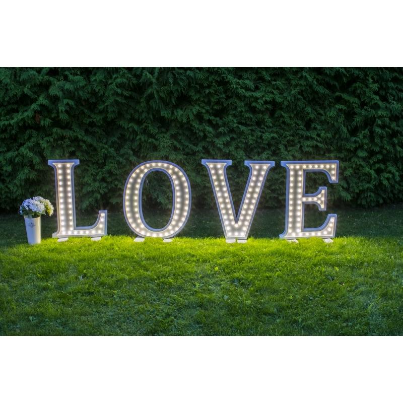 Suured LOVE led tähed, kõrgusega 80cm, rent