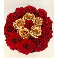 17-roosiga , erinevad toonid